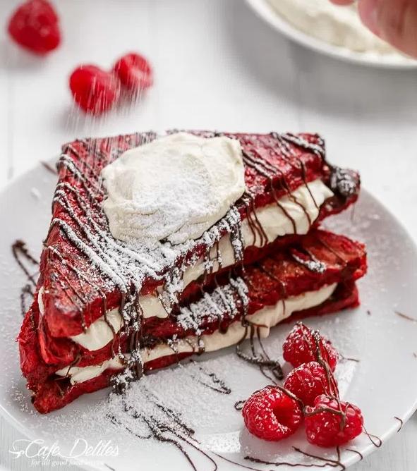 allcreated - red velvet french toast