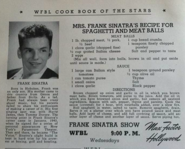 allcreated - Frank Sinatra Spaghetti And Meatballs