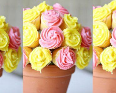 allcreated - cupcake flowerpot bouquet