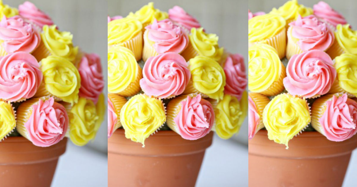 How To Make A Cupcake Flowerpot Bouquet That Mom Will Adore