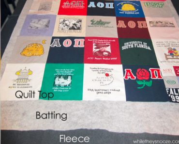 allcreated - t-shirt quilt tutorial