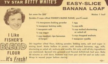 allcreated - betty white's banana bread