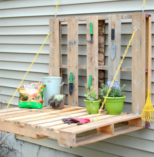 allcreated - diy pallet potting bench
