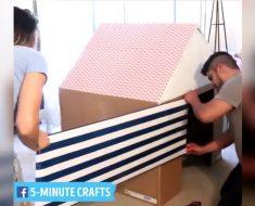 allcreated - cardboard playhouse