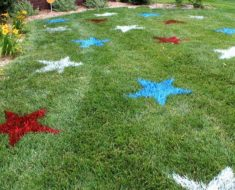 allcreated - painted lawn stars