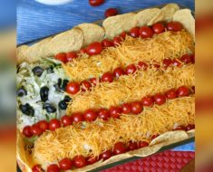 allcreated - patriotic taco salad