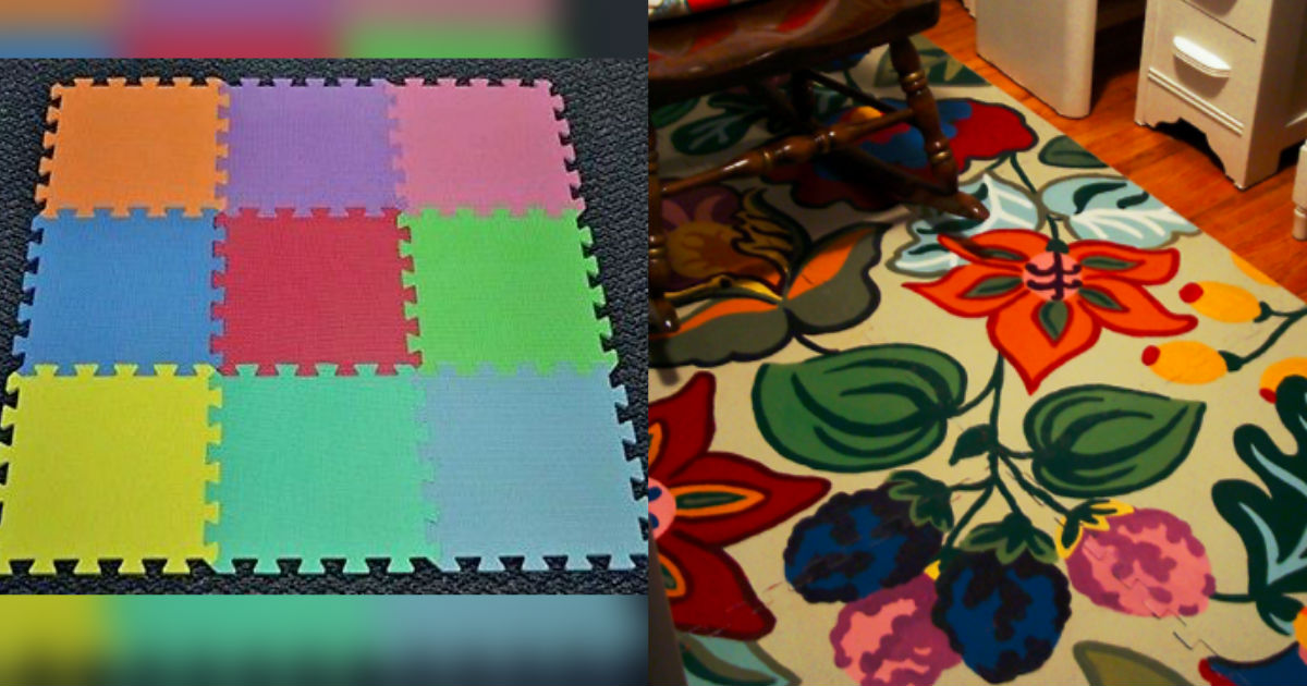 Playmat Rug Makeover Using Your Choice Paints And Design