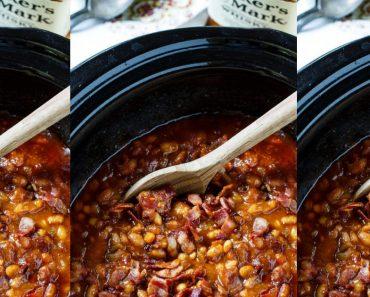 allcreated - slow cooker bourbon baked beans