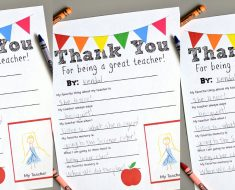 allcreated - teacher thank you printable