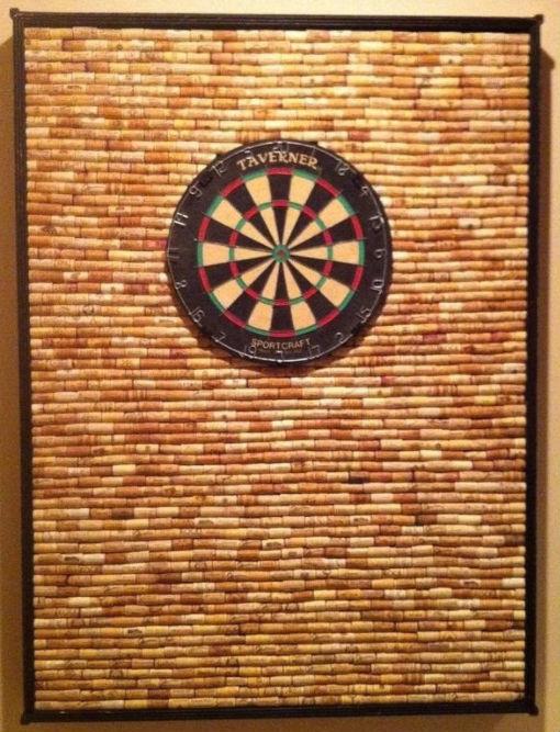 allcreated - wine cork dart board frame 1