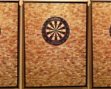 allcreated - wine cork dart board frame