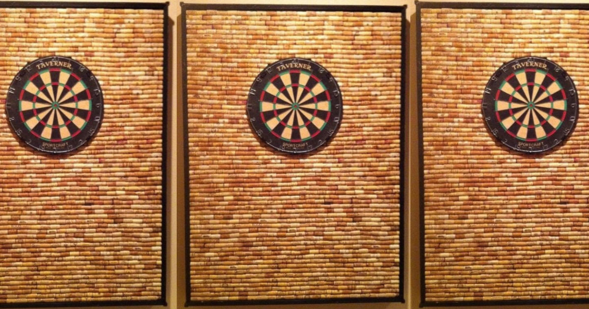 Wine Cork Dart Board Frame Means No More Holes In Your Walls