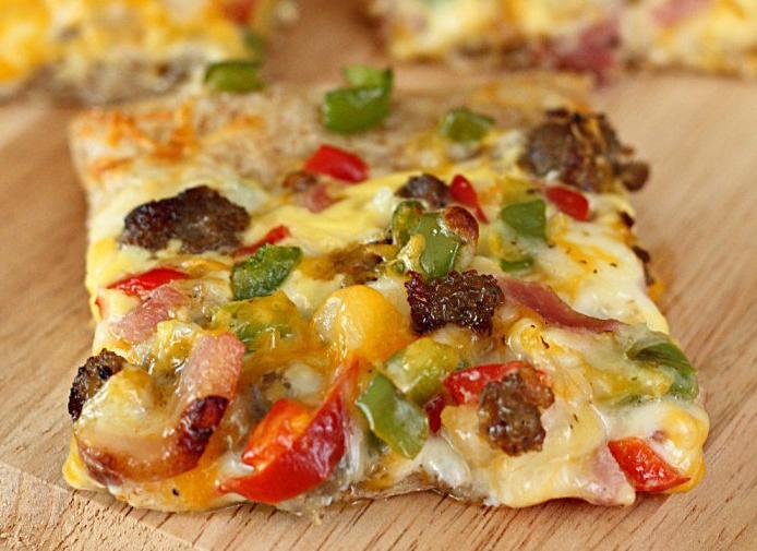 allcreated - easy breakfast pizza