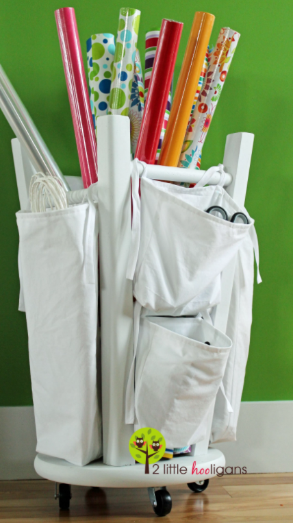 allcreated - diy wrapping paper caddy