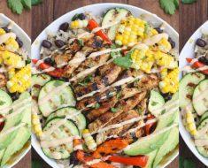 allcreated - grilled ranch chicken veggie bowl