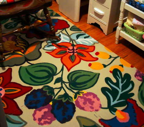 allcreated - playmat rug makeover