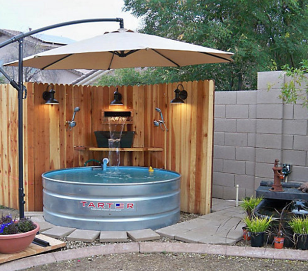 A stock tank pool can be your personal backyard oasis for How to make a pool out of a stock tank