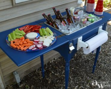 allcreated - bar cart furniture upcycle