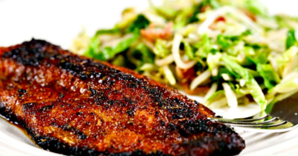 Blackened catfish has an easy seasoning and is grilled in for Grilled fish seasoning