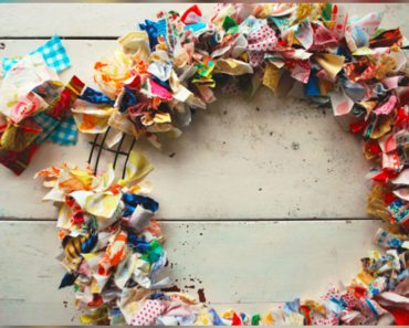 allcreated - diy fabric scrap wreath