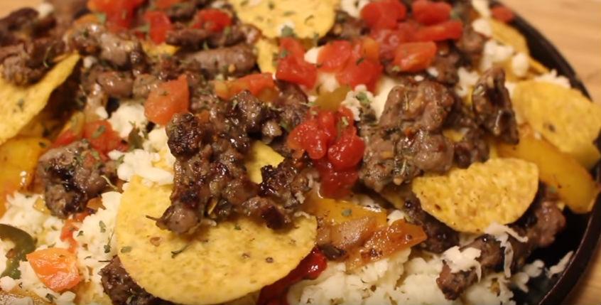 Dollar Store Steak And Cheese Nachos With Budget Fajita Ingredients