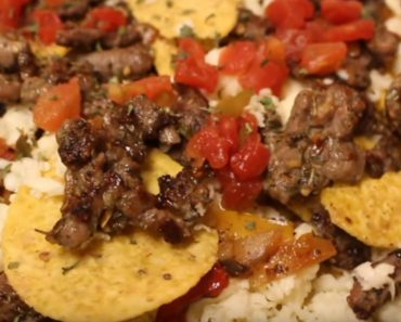 allcreated - dollar store steak and cheese nachos