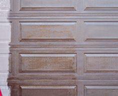 allcreated - stain a garage door