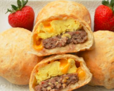 allcreated - stuffed breakfast biscuits