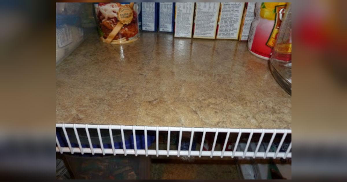 Best Tile Cleaner >> Vinyl Tile Shelf Liners Make Wire Shelving Even And Easy