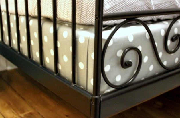 Cover A Box Spring With Fabric To Coordinate With Bedding And Decor