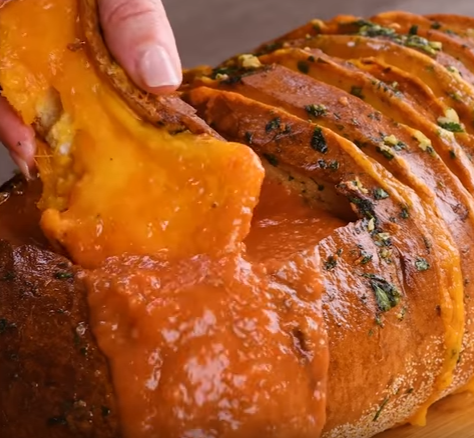 allcreated - grilled cheese tomato soup bread bowl