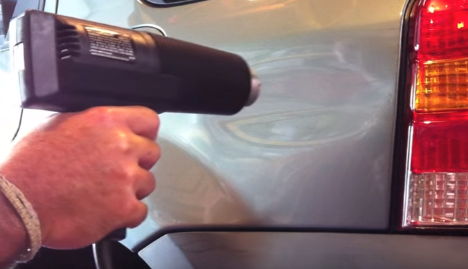 Remove Car Dents Inexpensively With A Heat Gun And