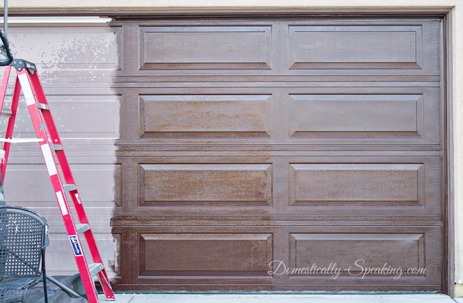 Stain A Garage Door With Gel Stain To Improve Curb Appeal