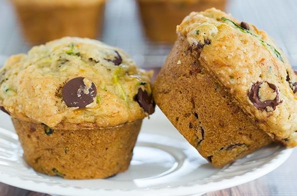 allcreated - chocolate chip zucchini muffins