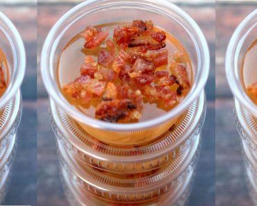 allcreated - bacon bourbon apple jell-o shots