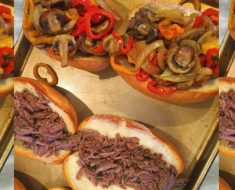allcreated - crock pot beef and cheese subs