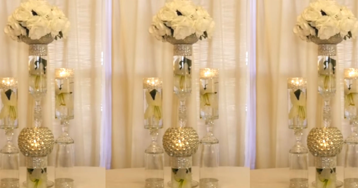 Dollar Store DIY Wedding Decorations Give Big Glamour For ...