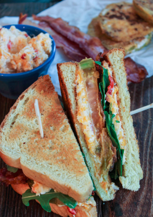 allcreated - fried green tomato blt with pimento cheese 1