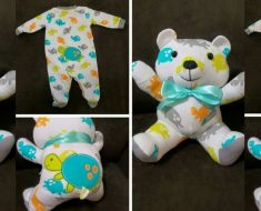 allcreated - baby clothes transformed into stuffed animals