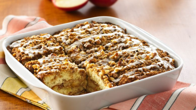 Bisquick Apple Coffee Cake With Glaze Is A Twist On The