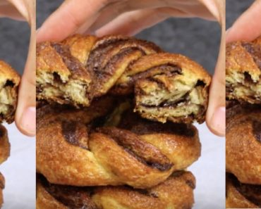 allcreated - baked nutella crescent donuts
