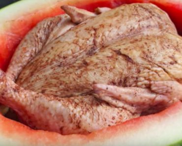 allcreated - cooking chicken inside a watermelon