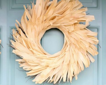 allcreated - corn husk wreath