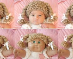 allcreated - crocheted cabbage patch hat