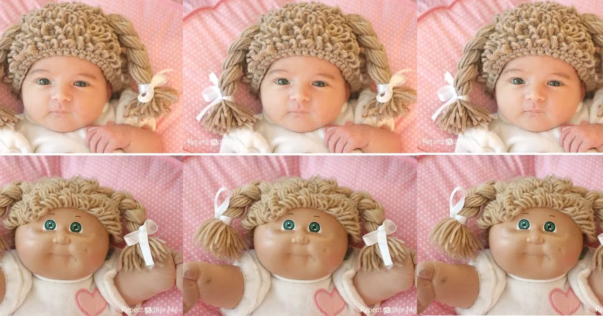 Crocheted Cabbage Patch Hat Pattern And Step By Step Tutorial