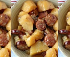 allcreated - crockpot sausage and potatoes