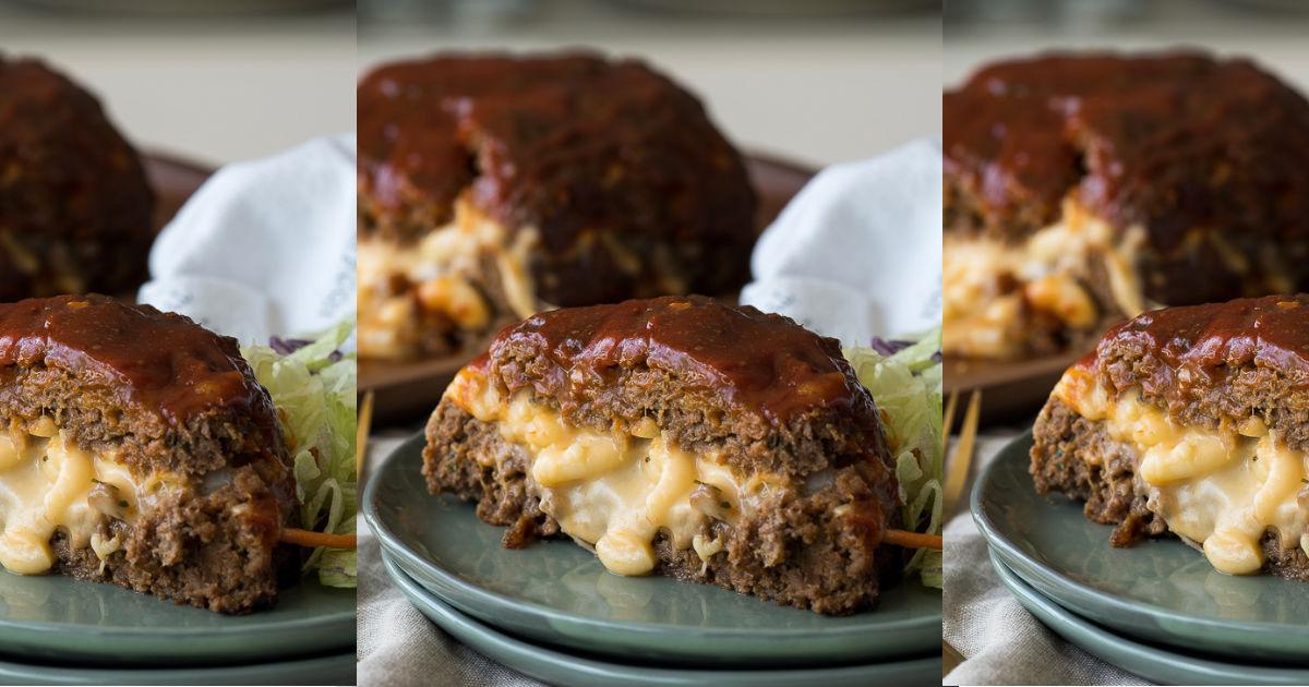 mac and cheese stuffed meatloaf