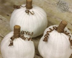 allcreated - no sew sweater pumpkins