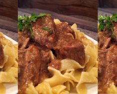 allcreated - slow cooker beef and gravy noodles