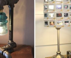 11 DIY Lamps Using Garage Finds That Will Add Interest To Your Home